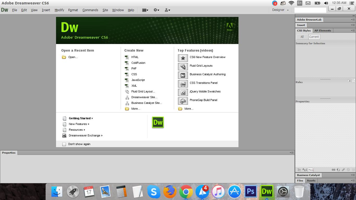 install DreamWeaver CS6 ubuntu