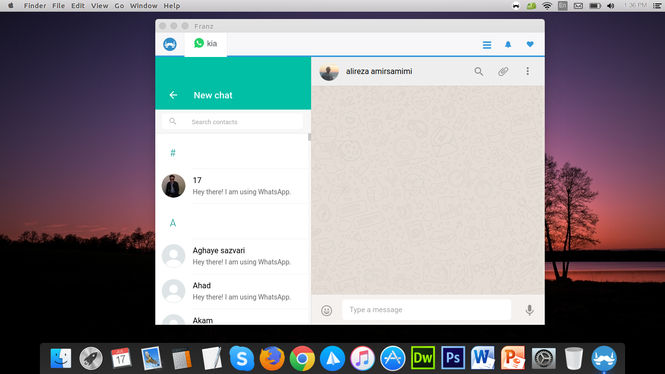 Franz is a free messaging app