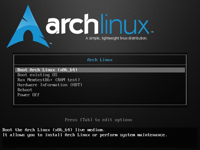 نصب آرچ لینوکس